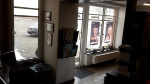 Salon innen Eingangsbereich