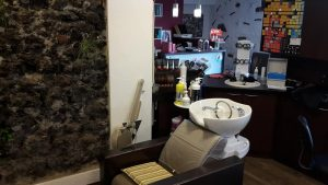 Salon innen Waschtisch